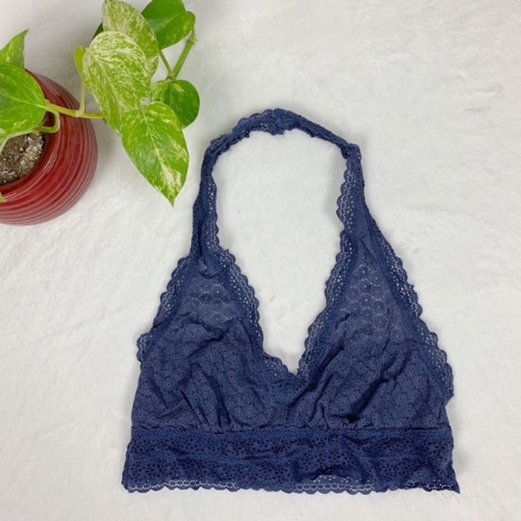 aerie Other - AERIE Crochet Purple Halter Bralette M